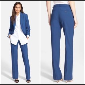 Theory Max C Bi Stretch Blue Khaki Trousers Size 4